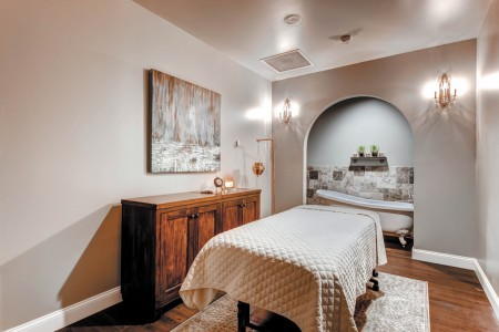 A Woodhouse Day Spa massage table as seen in a Colorado location that opened May 16. The Woodhouse Day Spa plans to open its flagship location at Perimeter Mall in Dunwoody.