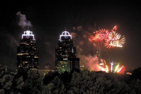 Fourth of July fireworks over the Concourse in Sandy Springs last year.