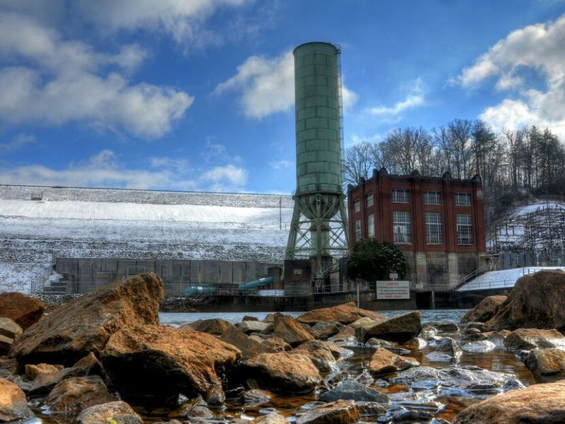 The historic Blue Ridge power plant reservoir make for a scenic outing.