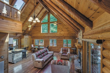 The interior of Kathy and Dave Brown's cabin in Morganton, Georgia.