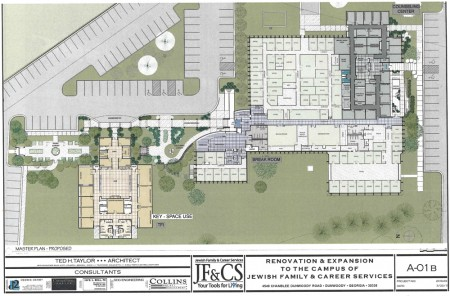 Plans for renovating and expanding the Jewish Family & Career Services campus in Dunwoody.