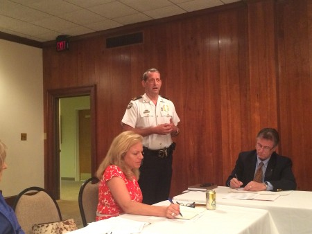 Maj. Hobbs updates the Buckhead Council of Neighborhoods on public safety issues.