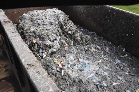 A fatberg filled with baby wipes, cooking grease and other waste pulled from an Atlanta sewer.