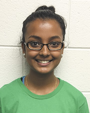 """I like anatomy and physiology because we're learning about the body and I like science. I want to be a physician."" Manshi Baskaran   North Springs Charter High School"