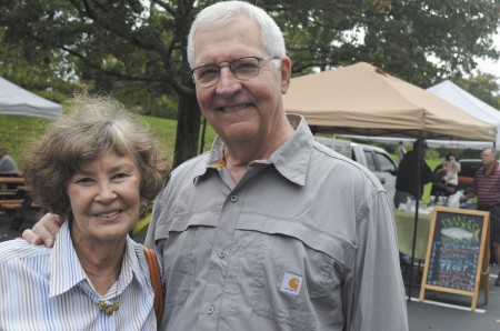 """""""We're going to walk there all the time on all the new sidewalks."""" Richard Fritz with Judy Fritz"""