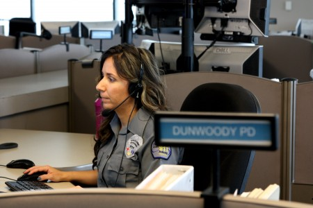 Vanessa Ollee dispatches police for Dunwoody.