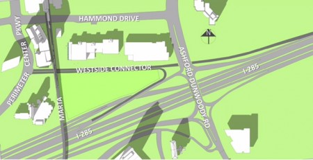 Dunwoody city officials say plans are underway to develop a $20 million connector road coming off I-285, going under Ashford-Dunwoody Road and connecting with Perimeter Center Parkway.