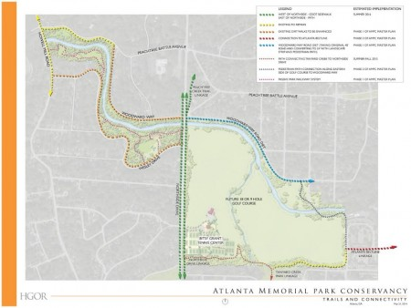 The Atlanta Memorial Park Conservancy is planning new trails and other improvements for the park.