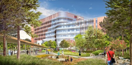 An illustration of the proposed Children's Healthcare of Atlanta building.