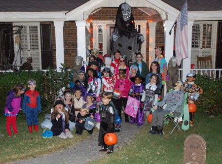 Halloween hosted by Susie Neel and family in a cul-de-sac in Vernon North.