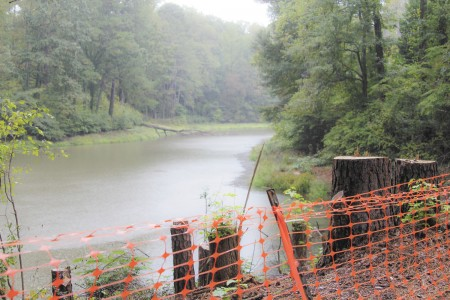 The city of Sandy Springs is assessing the condition of Lake Forrest Dam, built in the late 1940s.