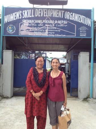 (Right to left) Sushma Barakoti and Ramkali Khadka, executive director of the Women's Skill Development Organization.