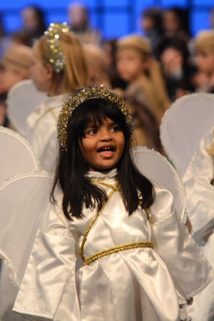 Hiruni Manawadu and her Pre-First classmates were angels in Pace Academy's 25th annual holiday program.