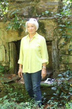 Sandy Springs Conservancy Executive Director Linda Bain during an August 2015 visit at the future park at the Glenridge Hall estate.
