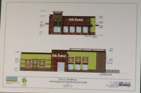 A revised pan for a Pollo Tropical restaurant on Ashford-Dunwoody Road in Dunwoody.