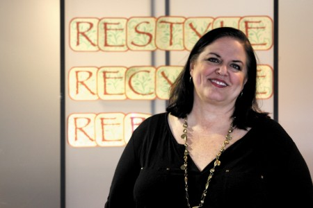 Robyn Hazelrigs manages the Buckhead THRIFTique store and gives away thousands of dollars worth of name brand clothing each year.