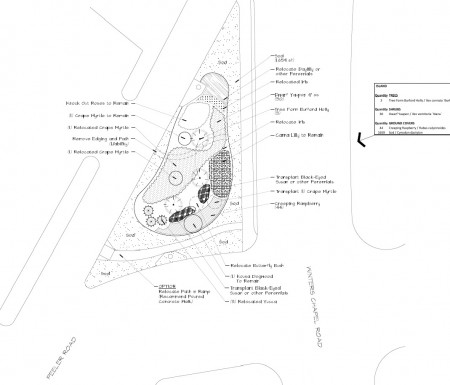 A landscaping plan done for DHA by Sears, Smith & Associate in 2012.