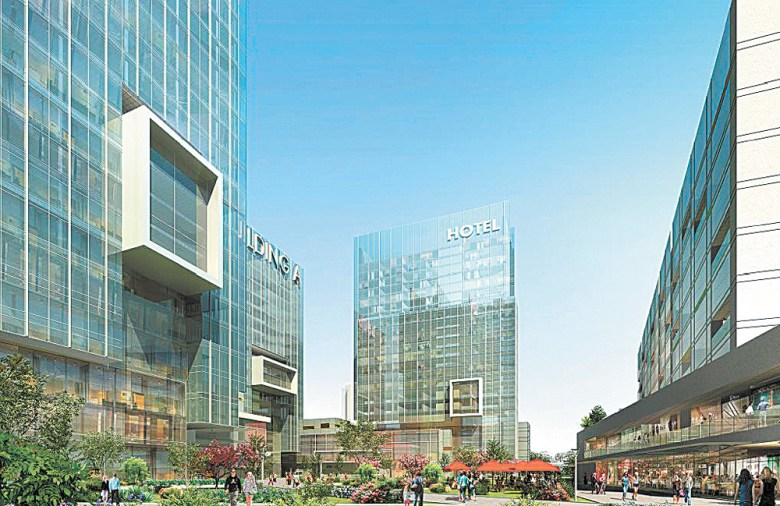 A conceptual design for the proposed Dunwoody Crown Towers.