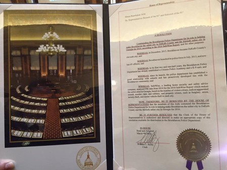 house resolution honoring brookhaven police