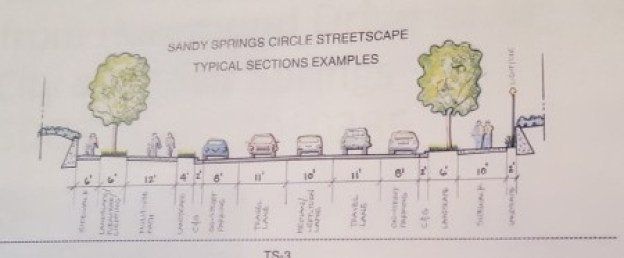 A cross-section illustration of the proposed Sandy Springs Circle design. (Photo John Ruch)