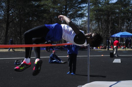 Riverwood junior Jada Dunn takes on the high jump, winning a gold medal in the event.