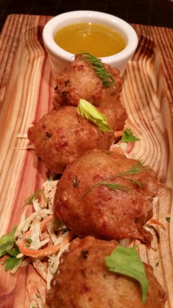 smoked trout beignets