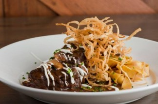 Prime Beef Shortrib Stroganoff from Del Frisco's Grille.