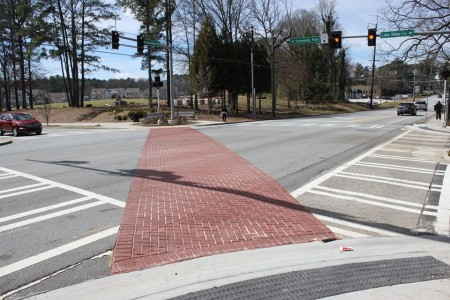 Dunwoody's first pedestrian scramble is located at