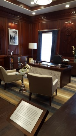The new church's recreated office of Scientology founder L. Ron Hubbard. (Photo John Ruch)