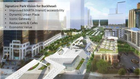 Another angle on Jacobs' Buckhead Green park concept.