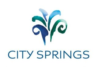 """The city's official """"City Springs"""" logo."""