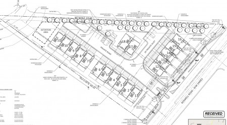 Acadia Homes' site plan for the Roswell Road property.