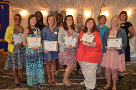 Eleven Sandy Springs teachers were honored May 24 by the Rotary club of Sandy Springs as Teachers of the Year.