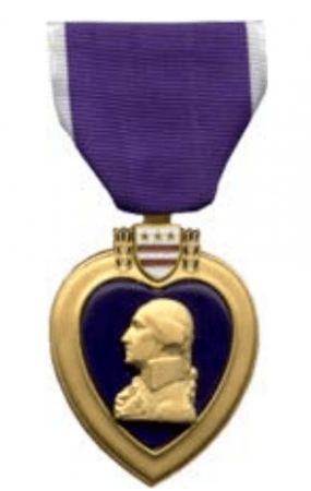 An image of the Purple Heart decoration, from the U.S. Department of Veterans Affairs web site.