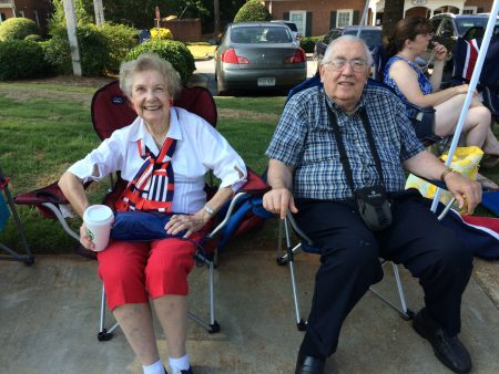 Margaret and Delos Knight of Alpharetta has seen parades all over the country.