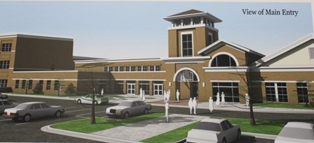 A preliminary rendering of the John Robert Lewis Elementary School. (DeKalb County Board of Education)