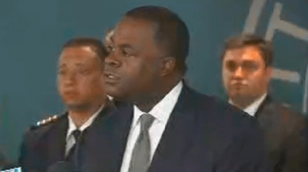 Mayor Kasim Reed at this morning's press conference. Courtesy CBS46