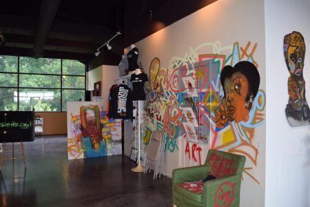The interior of Dakoro Art Gallery. (Photo Jaclyn Turner)