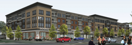 Dresden Drive rendering with four stories.