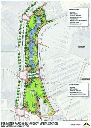 The latest Perimeter Park plan commissioned by the Perimeter Community Improvement Districts.