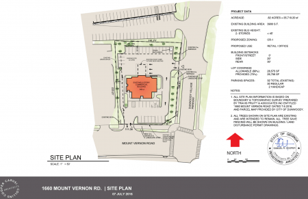 Site plan of 1660 Mount Vernon Road. Click to enlarge.