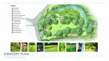 The current conceptual design for Windsor Meadows Park, which is still in draft form.