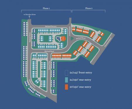 Site plan from http://skylandbrookhaven.com