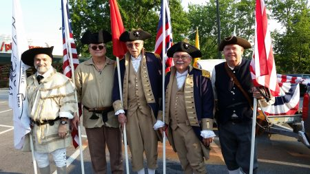 Members of the Mount Vernon Chapter Colorguard in full uniform, from left, Geoff Oosterhoudt, Tom Chrisman, Bob McCleskey, Shep Hammack and Randy Pollard. (Special)
