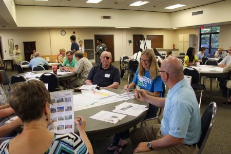 Residents from Brookhaven Heights, Brookhaven Fields and Briarwood Park participated in a recent character area study charrette. (Photo Dyana Bagby)