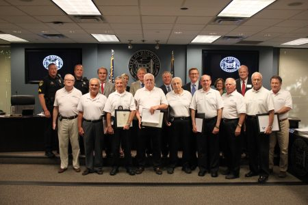 Dunwoody Municipal Court bailiffs were recently honored by the City Council and police department. (City of Dunwoody)