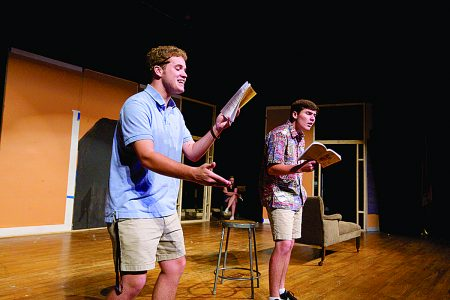 Riverwood's Chip Carter, left, and Joe Virgin rehearse for the show. (James Barker Photography)