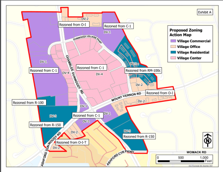 new dunwoody village zoning map