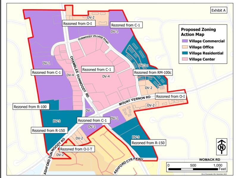 new dunwoody village zoning map