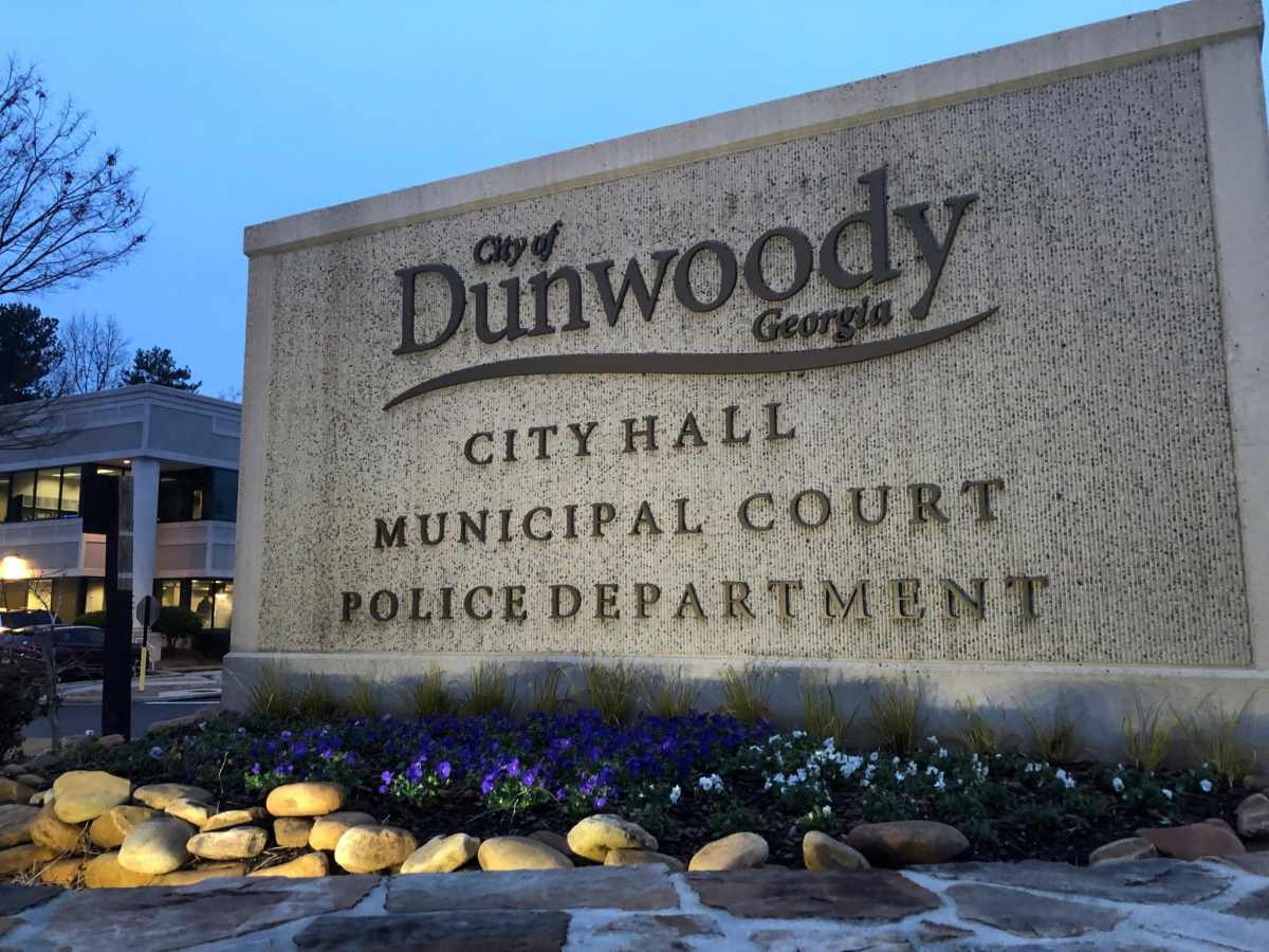 dunwoody city hall sign